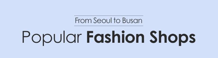 Popular Fashion Shops