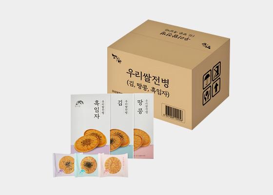 우리쌀전병 (김 땅콩 흑임자) 24g 18개