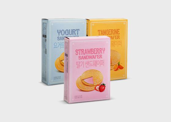 샌드웨이퍼(딸기/요거트/감귤) 10개*3박스