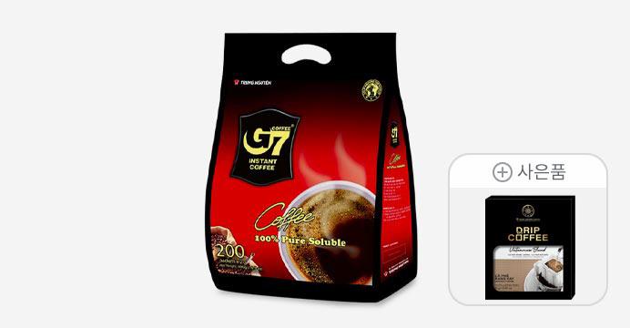 [20%]G7 커피/Pure Black 200T/블랙+레전드 드립3P