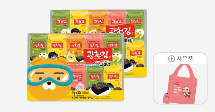 카카오 도시락김40봉+장바구니