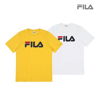 c5e5fe38c6017  FILA  Regular Fit FILA Linear Logo T-Shirts (5 Types)