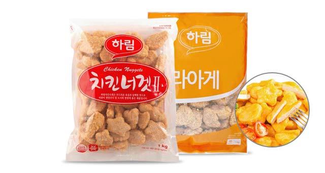 (하림)치킨너겟 1kg+치킨가라아게 1kg