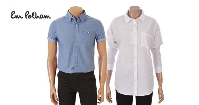 [엠폴햄] 시원한 남녀 셔츠