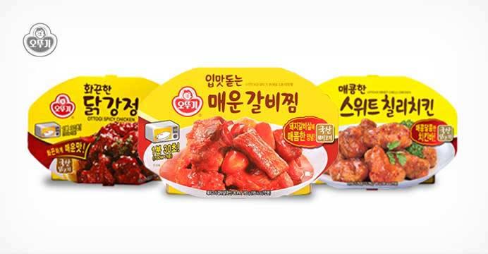 오뚜기 화끈한 닭강정(렌지용) * 5개