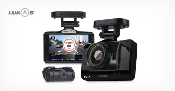 큐비아 R935 2채널 풀HD 블랙박스+GPS 증정
