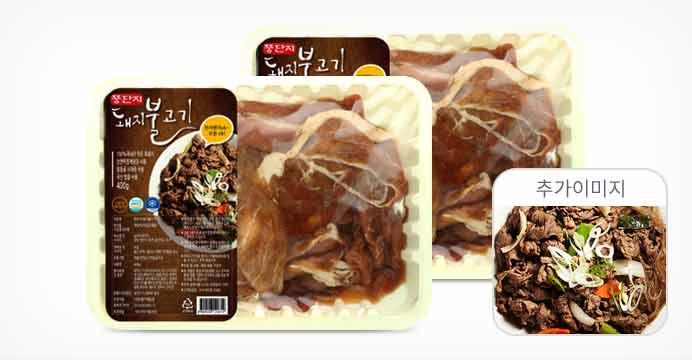 뚱딴지 돼지불고기 400gx2팩/2개구매시1팩증정