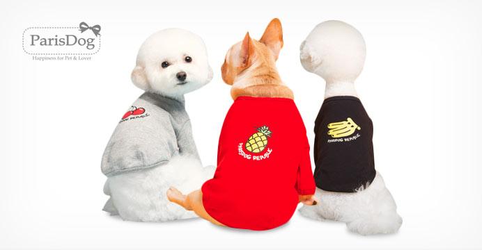 G마켓x패리스독 F/W 트로피컬 강아지 티셔츠