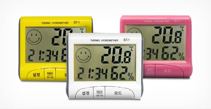 이모티콘 표시! 디지털 온습도계 모음 특가전