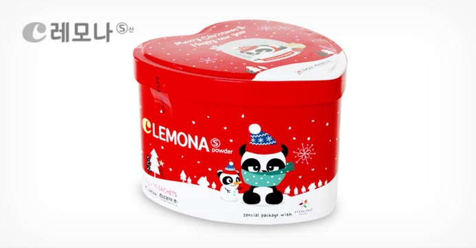 레모나 크리스마스에디션 하트캔 70포+쇼핑백
