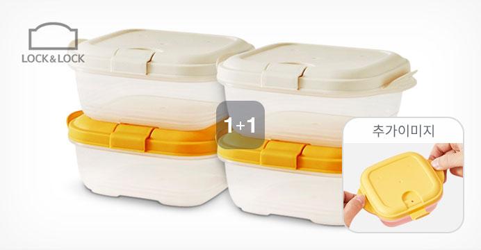 [락앤락 피앤큐] 햇쌀밥용기 300ml 2P 1+1