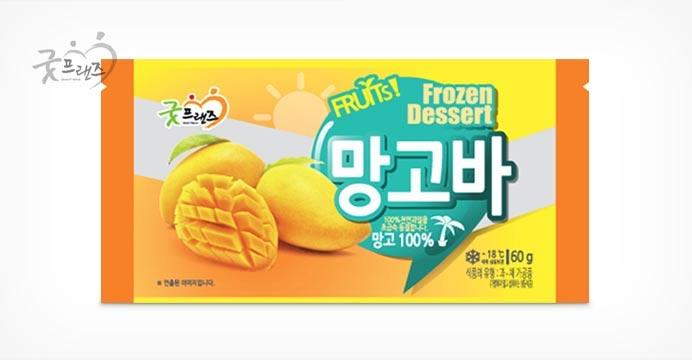 천연아이스크림 냉동망고바 20개(개당 60g내외)