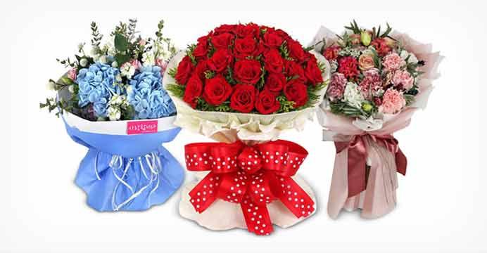 당일배송 발렌타인데이 꽃다발 꽃바구니