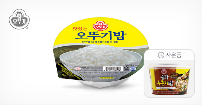 오뚜기밥 24개(1박스)+중화 누룽지탕190g(증정)