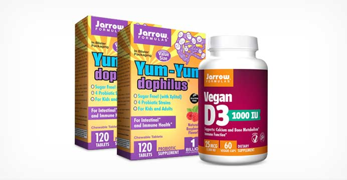 [빠른직구] 2+1 자로우 유산균+비타민D3
