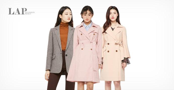 ★하이라이트딜★LAP 트렌치/체크자켓 미리준비