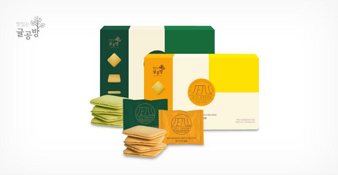 제주 랑드샤 녹차or감귤12개입 선물세트+쇼핑백