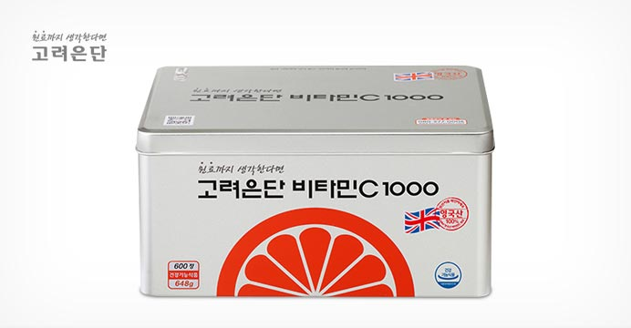 고려은단 비타민C1000 600정+10%카드할인