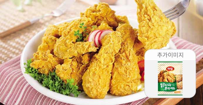 하림 닭다리후라이드 1kg +7%카드할인
