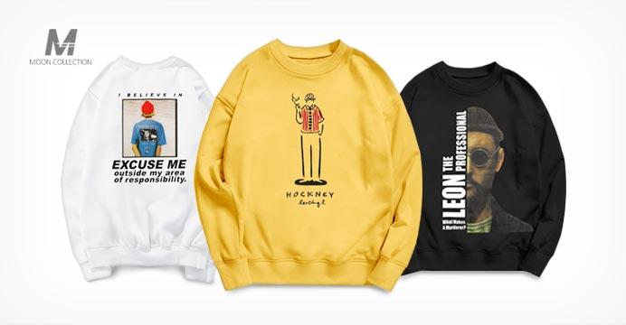겨울신상헤비기모 맨투맨 오버핏 티셔츠
