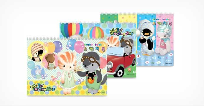 캐릭터스케치북 (10매) 10권
