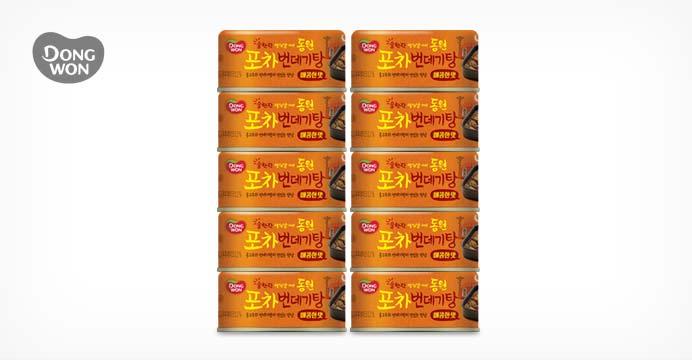 [15%쿠폰] 포차 번데기탕 매콤한 맛 90g 10캔