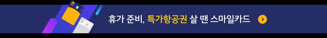 휴가 준비, 특가 항공권 살 땐 스마일카드!