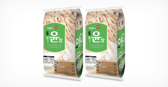 윤쌀 10kg+10kg (박스포장 당일도정)