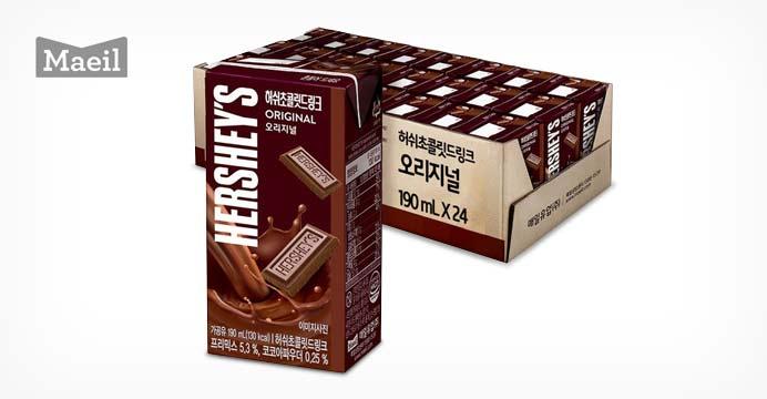 [17%+무배]허쉬드링크 초콜릿 190ML 24팩