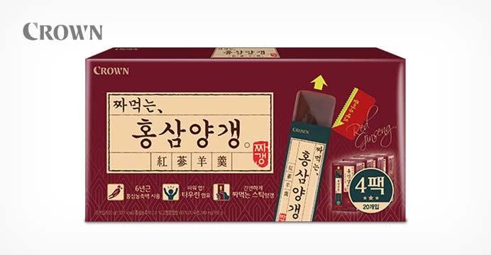 크라운 홍삼 양갱 1세트 (4박스)