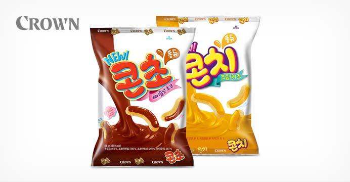 크라운 콘초 66g 5봉+콘치 66g 5봉 (총 10봉)
