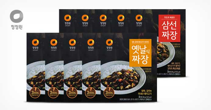 [15%쿠폰]청정원 옛날짜장X5개+삼선짜장X5개