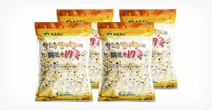 발아현미가 함유된 17곡 4kg (1kgX4팩)
