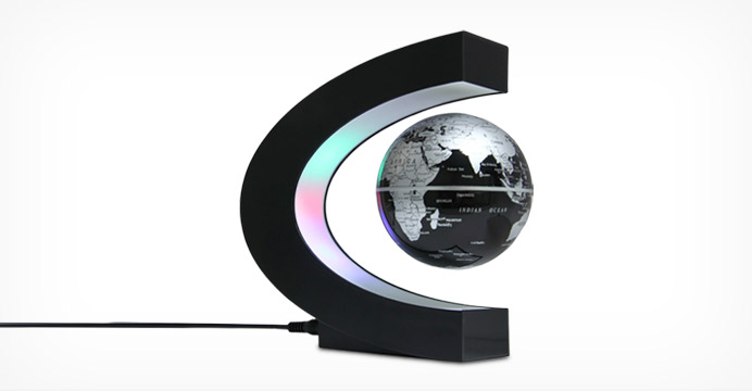 마그네틱 공중부양 회전 지구본 LED 램프