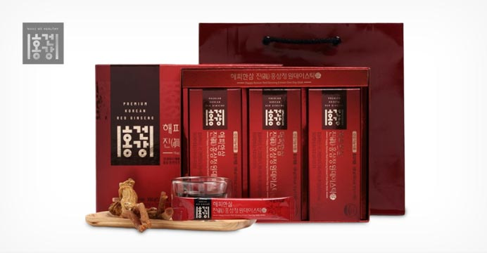 홍건강 해피한삼 진 홍삼정 원데이스틱 30포