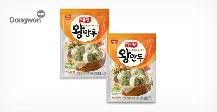 [10%쿠폰] 동원 개성 왕만두 대용량 1.82kg 2봉