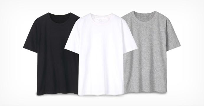 시즌오프 대폭인하 S~3XL 공용 무지 티셔츠