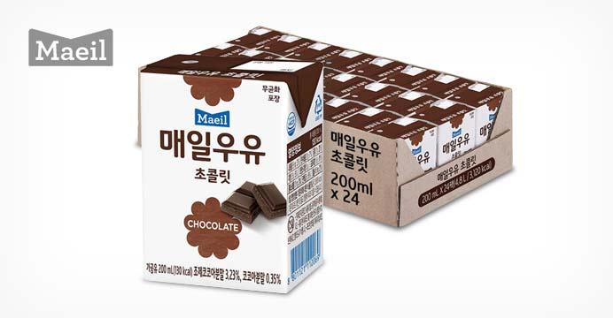 매일 멸균우유 초콜릿 200ml 24팩