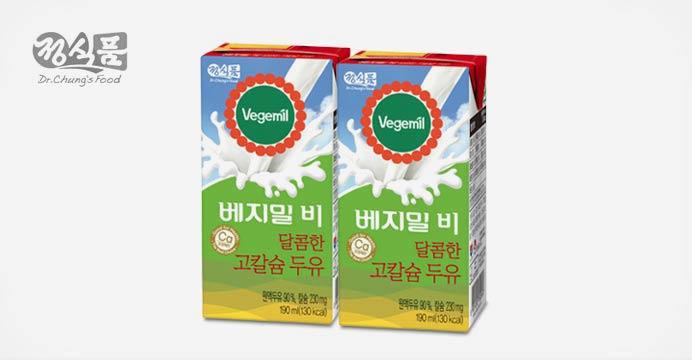 베지밀B 달콤한 고칼슘 두유 190ml x48팩