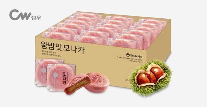 무료배송! 왕찹쌀 밤맛 모나카 27개입 810g