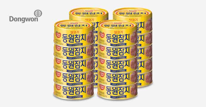 [동원]라이트 스탠다드 참치 100gx20캔 원터치