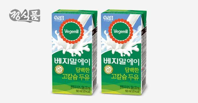 베지밀A 담백한 고칼슘두유 190ml 48팩