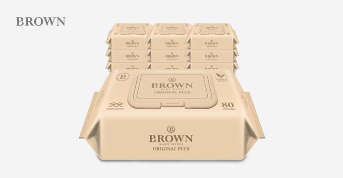 브라운 오리지널 플러스 80매 캡 10팩