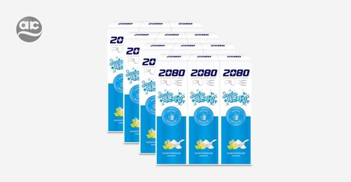 2080퓨어 베이킹소다 치약 레몬라임 3입x4