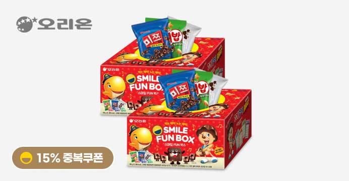스마일 FUN박스2개(미쯔+고래밥+초코송이)